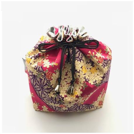 Pochette tissu à fleurs