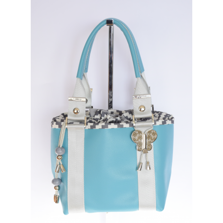 Kyoto cuir turquoise